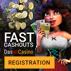 Das Ist Casino 50 free spins and 150% bonus up to €/$ 350 (or 1 BTC)