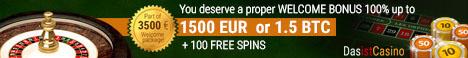 DasistCasino € 1500 or 1.5 BTC Bonus + 100 Free Spins